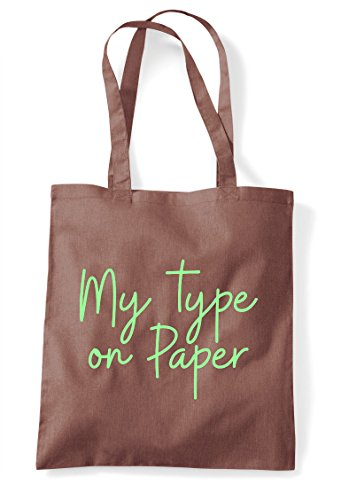 Paper My Bag Quote Tote Type Chestnut Shopper Statement On Hashtag FEExwHqSA
