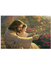 Jesus som håller ett barn affisch Dekorativ målning Tavlor Väggkonst Affischer Målning 60x90cm x1 Ramlös