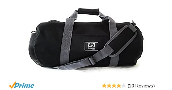 Small Gym Bag for Men and Women Sports Travel Duffle Overwake Original Black  19 inch Updated 2019 Model 5cc90b893f065