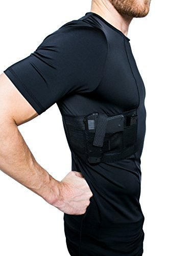 (Graystone Holster Shirt Concealed Carry Clothing for Men Crew Neck - Easy Reach Gun Concealment Compression CCW Tactical Clothes )