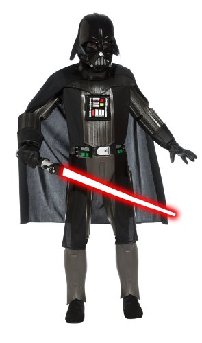 Dark Helmet Costumes (Star Wars, Deluxe Darth Vader Child's Costume - Large)