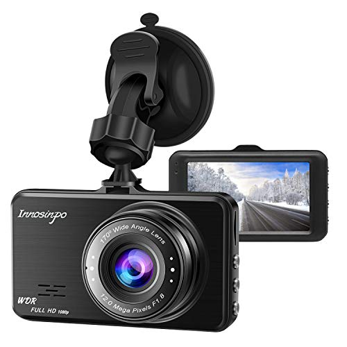 Dash Cam,Innosinpo 1080P 3″ FHD DVR Dashcam for Car Dashboard Camera with 170 Degree Wide Angle WDR G-Sensor Loop Recording and Motion Detection