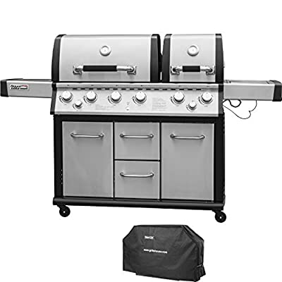 Royal Gourmet Liquid Propane Gas Grill Outdoor Cooking with Side Burner