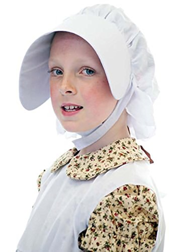 Victorian Servant Costumes (World Book Day-Victorian-Edwardian-Servant Girl-Fancy Dress-School Play BONNET - One)