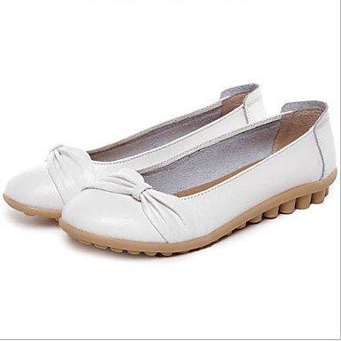 Blanc Wuyulunbi @ Femme Chaussures d'été Fall Ballerines Plat Talon Bout Rond pour décontracté Orange Noir Blanc US6.5-7   EU37   UK4.5-5   CN37