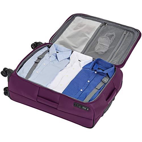 AmazonBasics Premium Expandable Softside Spinner Luggage With TSA Lock- 25 Inch, Purple by AmazonBasics (Image #7)
