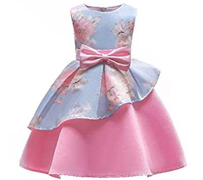 M-Sea Kids Flower Girls Party Dress Formal Birthday Dresses