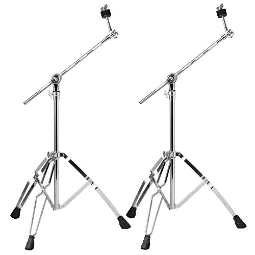 world-pride-2-pack-boom-cymbal-stand-drum-hardware-percussion-double-braced-tripod-holder