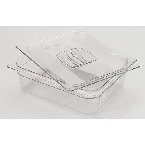 Rubbermaid Commercial Products FG124P00CLR Cold Food Pan, 1/2'' Size, 7-7/8 quart (Pack of 6) by Rubbermaid Commercial Products