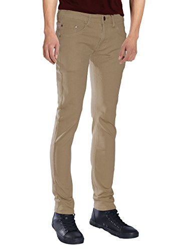 Seven Souls Mens Basic Casual Color Skinny Stretch Cotton Twill Pants