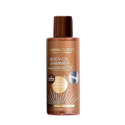 MINERAL FUSION Mineral fusion body oil shimmer macadamia nut gold, 3 fl oz, 3 Ounce ()