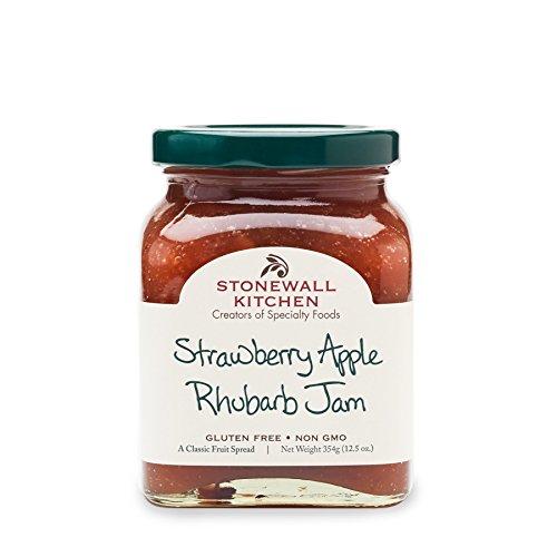 Stonewall Kitchen Gluten-free Strawberry Apple Rhubarb Jam, 12.5