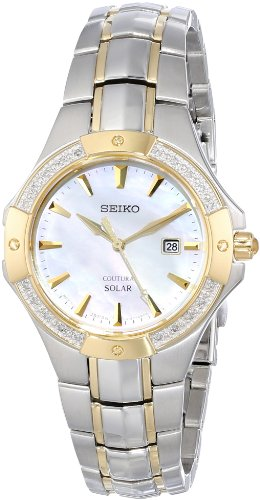 Seiko Coutura Ladies (Seiko Women's SUT124 Analog Display Japanese Quartz Two Tone Watch)