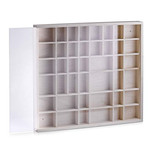 Zeller 12112 Caja Expositora de Pared, Pino, Marron, 45x40x4