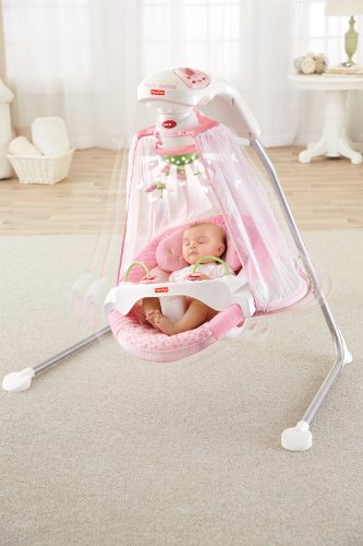 fisher price papasan cradle swing butterfly garden one size buy online in uae baby. Black Bedroom Furniture Sets. Home Design Ideas