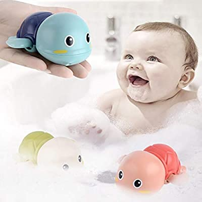 HOTUEEN Baby Bath Toy Cute Turtle Toy Clockwork Bathtub Turtle Water Toy for Baby Toddler Bath Toys: Kitchen & Dining
