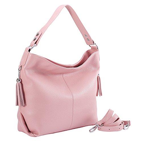 Body handle Bag Shoulder SALE Bags Vintage AINIMOER Purse Tote Handbags BIG Ladies Pink Top Cross Large Womens Leather HxZYq7