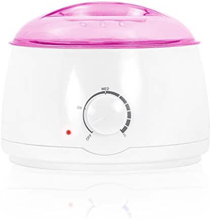 Salon Sundry Portable Electric Hot Wax Warmer Machine for Hair Removal - Pink Lid