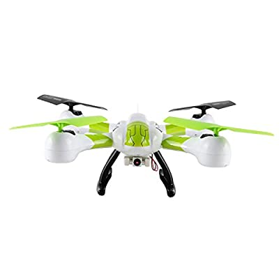 Czxin SKY Hawkeye Hm1315s 5.8g Video Real-time Transmission FPV RTF Remote Control Quadcopter Rc Drone Helicopter with Headless Flight Mode and a Key to Return Function (White&green)