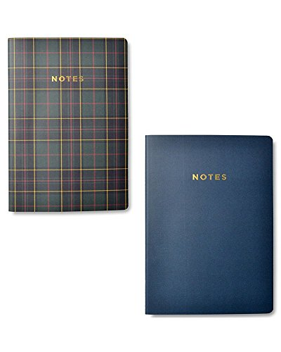 Gartner Studios Plaid & Gold Foil Soft Cover Jr. Notebook Set, 2 count