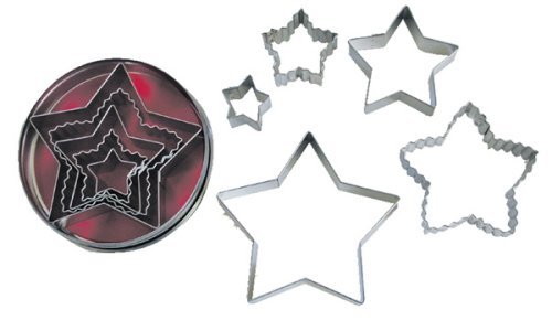 R & M Star 5 Piece Cookie Cutter Set with Gift Box ()