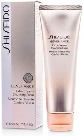 Shiseido Benefiance Extra Creamy Cleansing Foam, 4.4 Ounce