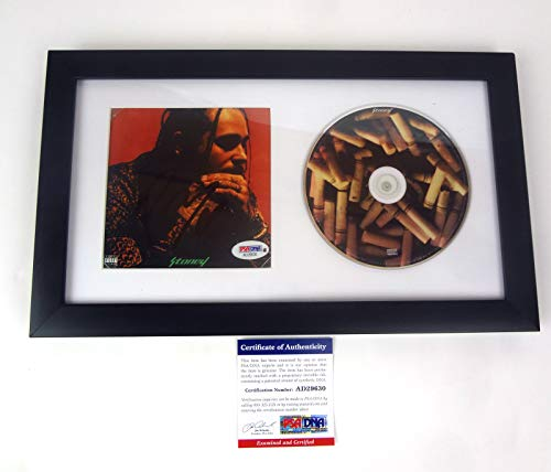 Post Malone Stoney Signed Autograph CD Framed PSA/DNA COA A