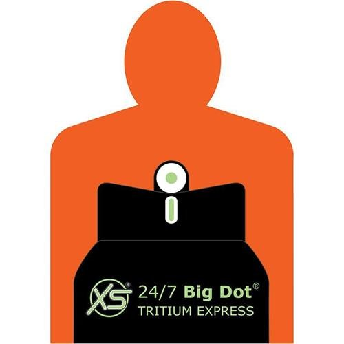 XS Sights 24/7 Big Dot Express Set with 2 Groove Rear Sight Base for Remington Rifles and Shotguns ()