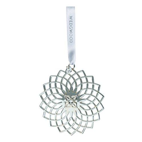 Wedgwood Filigree Snowflake Christmas Ornament, 3.2