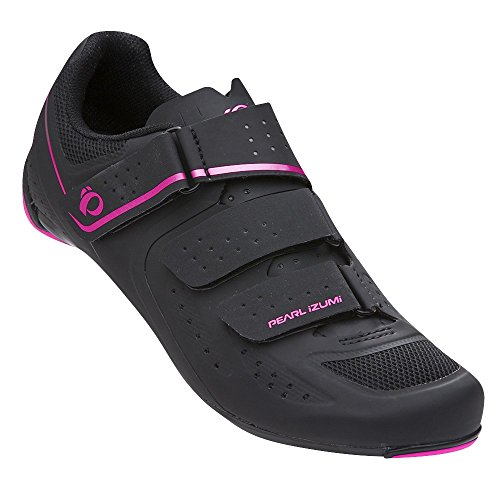 Pearl iZUMi Women's W Select Road v5 Studio Cycling Shoe, Black/Black, 41.0 M EU (9.2 US)