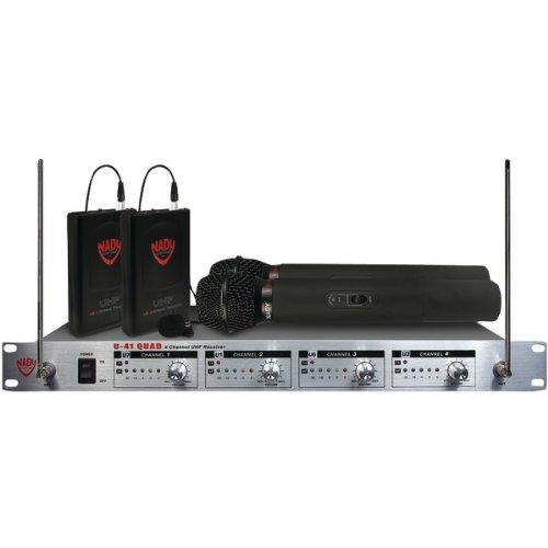 NADY U-41Q 2HT/2LT/O 4-Channel Uhf Wireless Microphone System