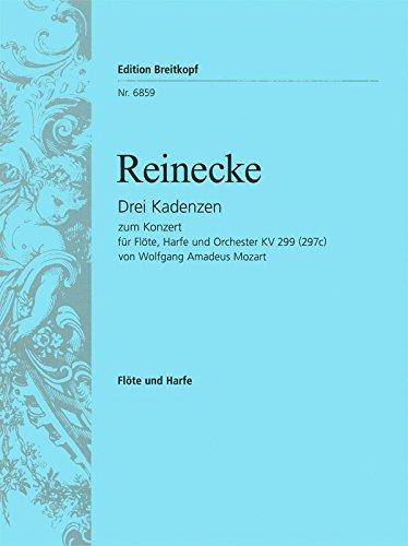 3 Kadenzen zu Mozarts Konzert C-dur KV 299 (297c) für Harfe (EB 6859)