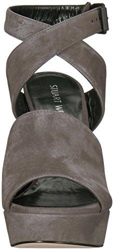 Stuart Weitzman Women's Detour Heeled Sandal Londra Suede QwFVn3