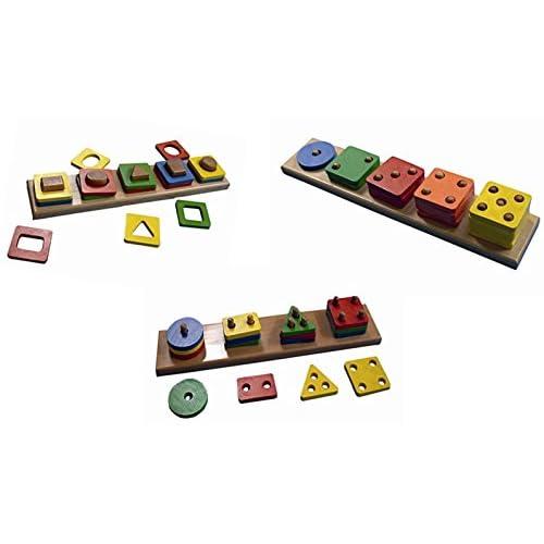 Edufun EF00001/2/3 - Lot éducatif - compte et compare ! Match-up, Count-up, Shape-up!