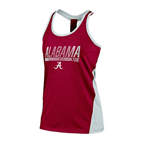 NCAA Alabama Crimson Tide Women's Poly+ Tank, Large, Crimson
