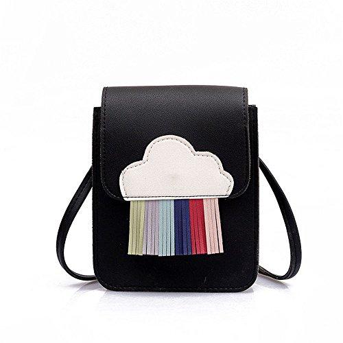 Hombro Color GWQGZ Para De Nueva Bolso Franja Única Bolsa Moda Black Azul De Dama B8rIwTx8