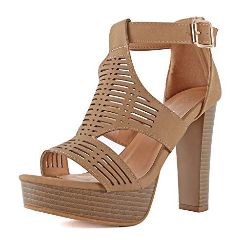 9ca411f4b52 Guilty Shoes - Womens Cutout Gladiator Ankle Strap Platform - Import ...