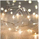 LED String Lights, ANJAYLIA 16.5Ft/5M 50leds Battery Operated Fairy Lights for Garden Home Party Wedding Festival Decorations