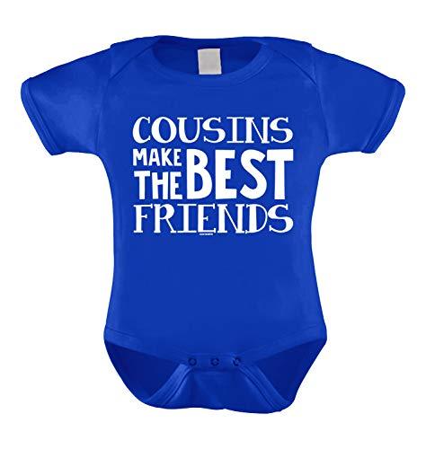 Cousins Make The Best Friends Infant Bodysuit (Royal Blue, 6 Months) - Best Friend Infant Bodysuit
