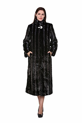 Adelaqueen Faux Fur Coat Jacket Women Black Coat Jacket Large Winter Coat Clothing Plus Fluffy Fake Fur Coat Thick Fashion Faux Fur Lady Coat Outerwear Shaggy Fuzzy Elegant Coat XS