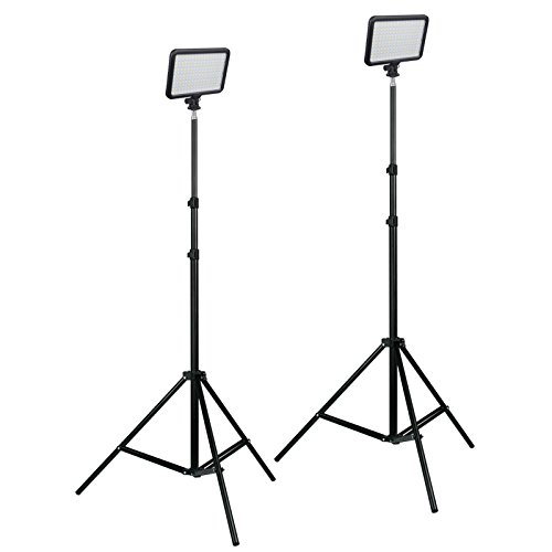 Triopo LED Video Interview Lighting Kit Dimmable Bi-Color Batteries, Charger, Camera Light by PBL