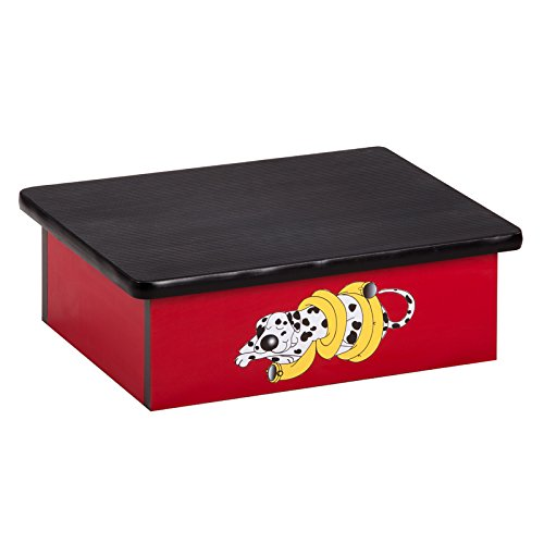 Pediatric Equipment - 20'' x 16'' x 7'' Dalmatian Red Laminate Pediatric Step Stool - CL-10-D by Miller Supply Inc