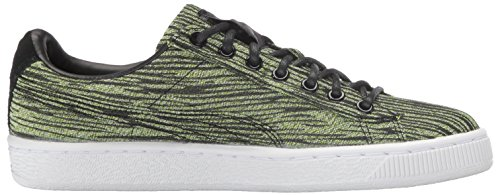 Cestino da uomo Classic Tiger Mesh Fashion Sneaker, Safety Yellow / Puma B, 7.5 M US