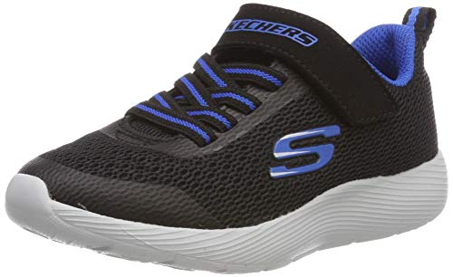Skechers Kids Boys' DYNA-LITE Sneaker, Black/Royal, 11 Medium US Little Kid (Shoes Boys Kids Skecher)