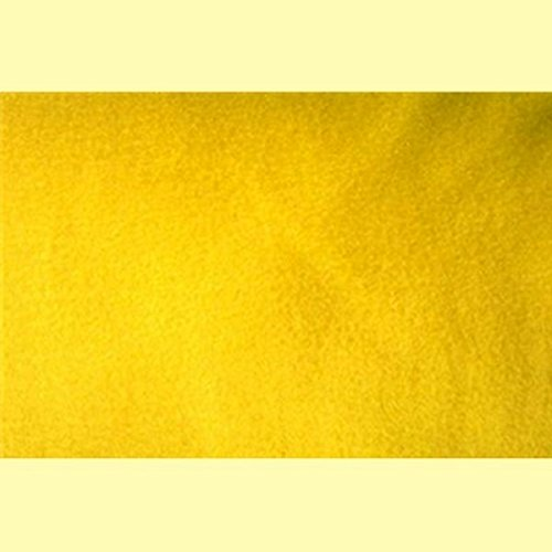 4 Yard Bolt Anti Pill Yellow Fleece Polyester Fabric
