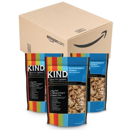 Kind Healthy Snacks Vanilla Blueberry Clusters with Flax Seeds, 11 Ounce - 6 per case.