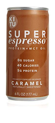 Kitu by SUNNIVA Caramel Super Espresso with Protein and MCT Oil, Keto Approved, 0g Sugar, 5g Protein, 40 Calories, 6 fl. oz, Pack of 12