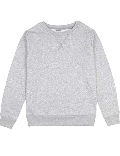 Kids Birthday Sweatshirt (Spring&Gege Youth Basic Sport Crewneck Pullover Sweatshirts for Boys and Girls Ash Grey Size 5-6 Years)