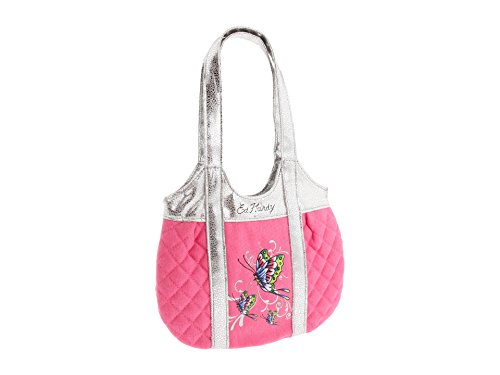 Ed Hardy Girls Allison Quilted Tote- Pink