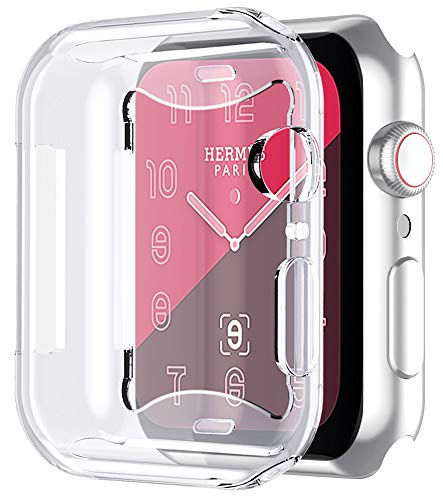 Bovon for Apple Watch Series 4 Screen Protector (44mm), iWatch 4 Case [All Around Protective] [Ultra Clear] [Precise Cut-out] Soft TPU Cover for New Apple Watch 4-2018 Released (clear)